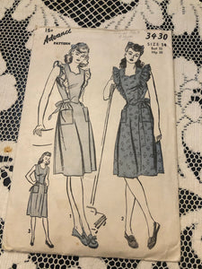 40s Pinafore Dress Pattern 3430