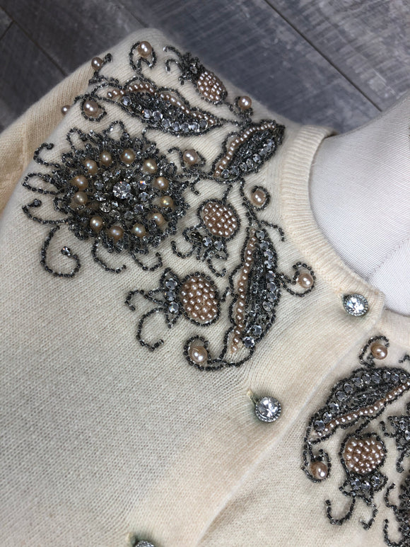 50s Embellished Cashmere Sweater
