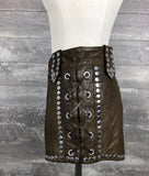 H&M 2013 collection studded leather babe shorts