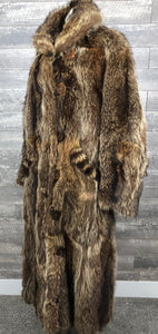True 1920s Raccoon Coat w/ Hat