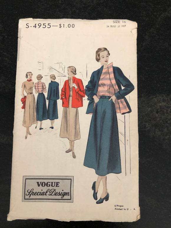 Late 40s Vogue4955 Dress /Jacket