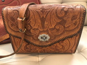 50s Tooled Leather Purse