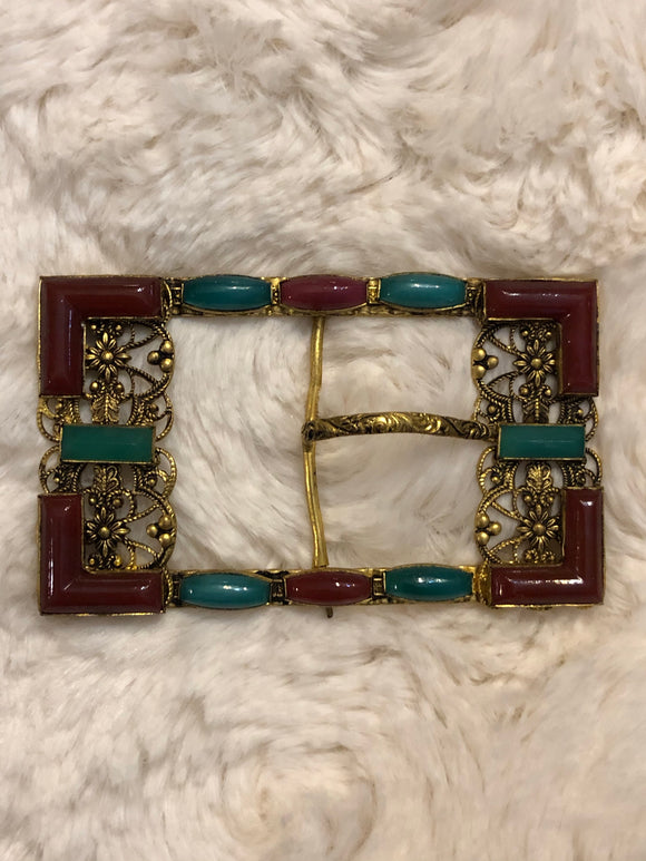 20s Czech Glass Buckle