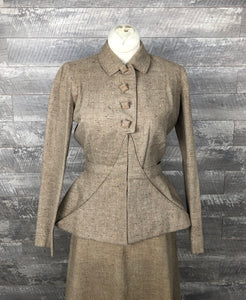 1940s wool safari style suit