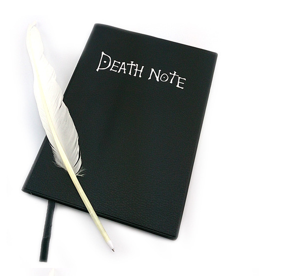 Death Note Notebook Complete With Feather Pen