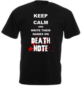 Death Note - Keep Calm and Write Their Names on Death Note T shirt
