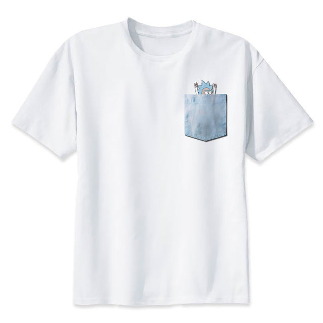 Rick and Morty - Rick and Morty Tiny Rick Pocket T-Shirt & More!