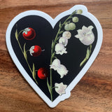 Opium Poppy and Lily of the Valley Stickers