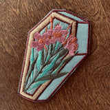 Oleander Embroidered Iron On Patch