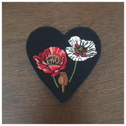 Opium Poppy Embroidered Patch