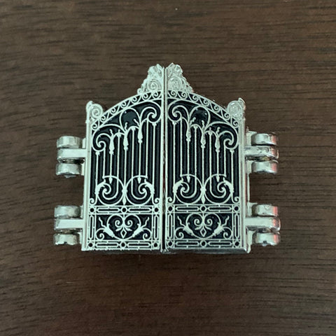 Autumn Crocus Behind Cemetery Gates Enamel Pin