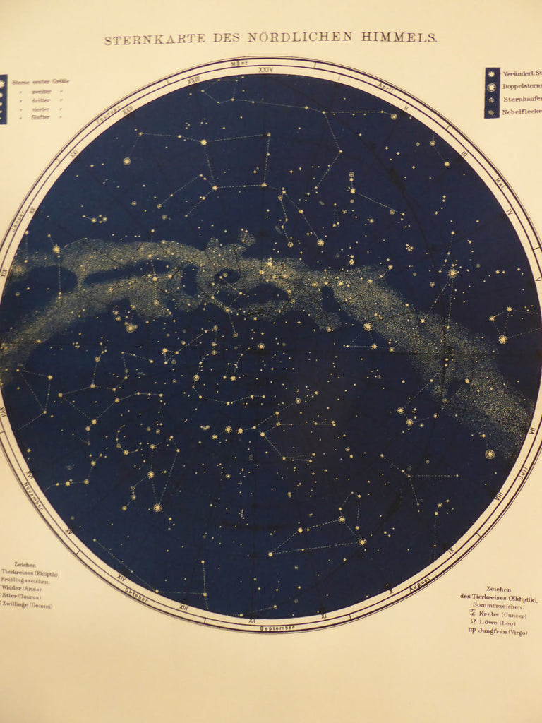 Large Vintage Star Map