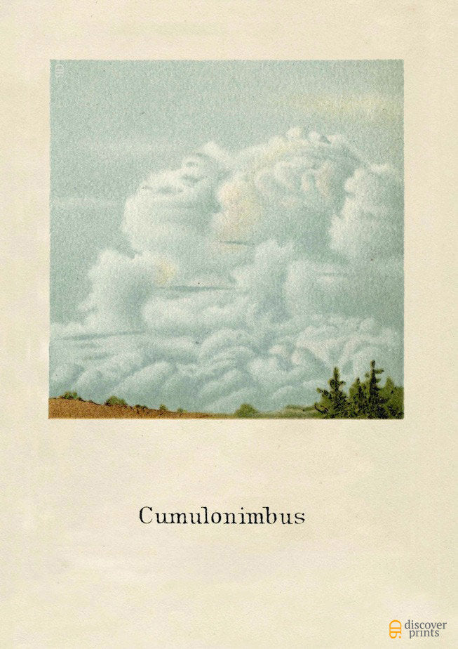 Cumulonimbus Cloud Art Print - Cloud Science Fine Art- Landscape Nature Wall Art - Museum Quality