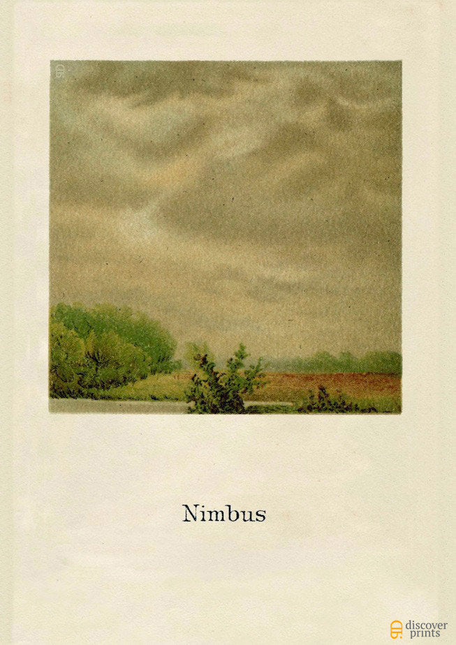 Nimbus Cloud Art Print - Cloud Science Fine Art- Landscape Nature Wall Art - Museum Quality
