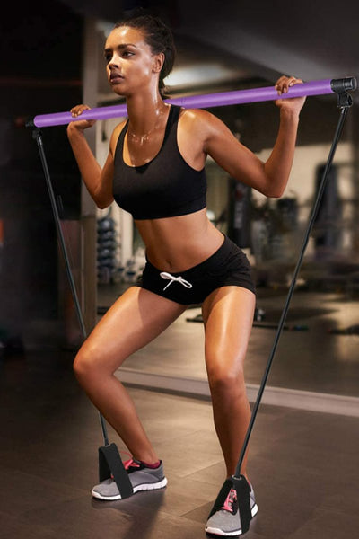 Portable Pilates Bar Kit with Resistance Band