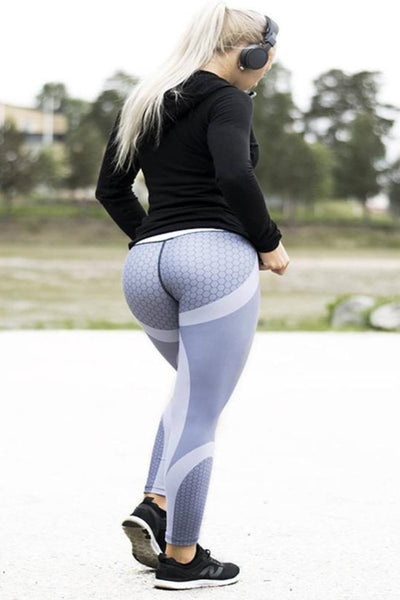 Mesh Pattern High-Waist Fitness Leggings