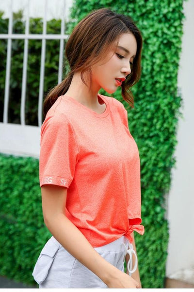 Short Sleeve Tie Front T-shirt