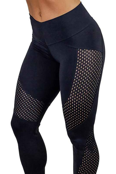 Breathable Panel Fitness Leggings