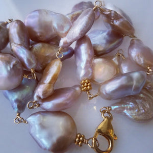 freash water pearls wire wrapped to necklaces, earrings and bracelets