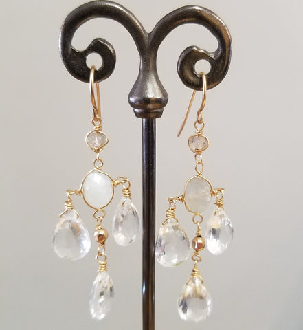 Moonstone and Topaz Chandalier