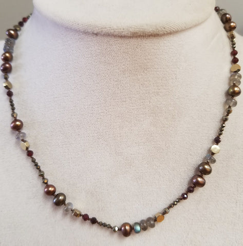Shades of Brown necklace