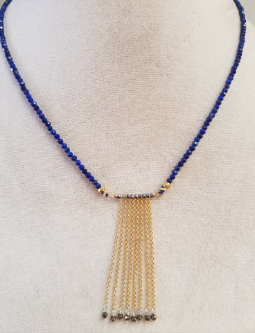 Gold fringe on Lapis
