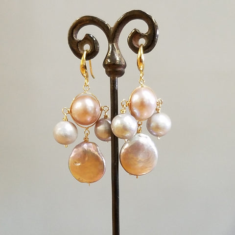 Modern Pearls earrings