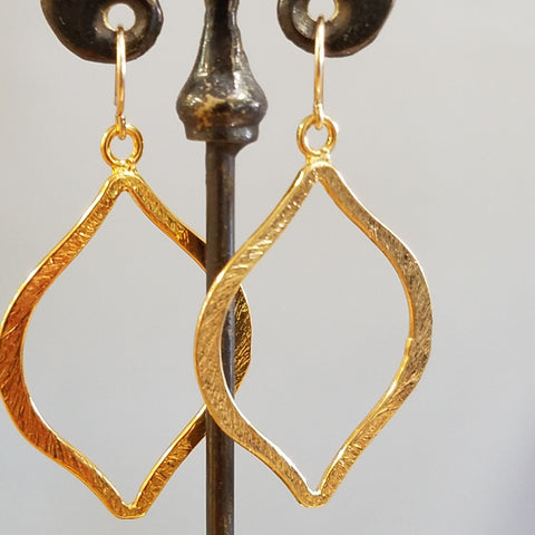 Gold Moorish motive earrings