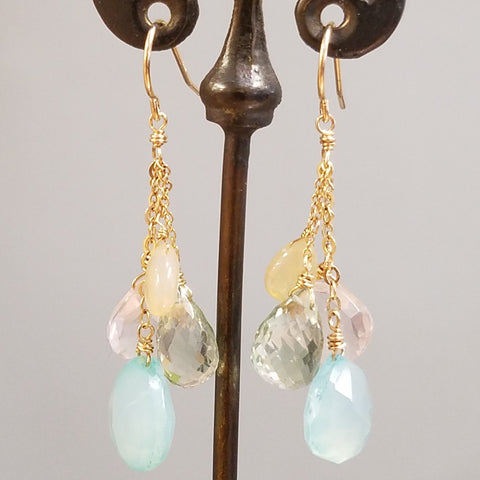 Handcrafted Pastel Quartet Earrings