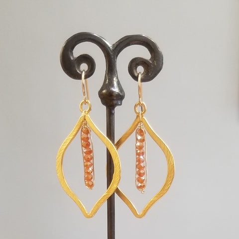 Moorish orange earrings