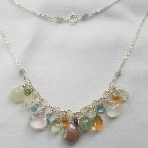 Multi gems necklace