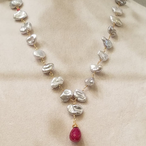 Ruby and Pearls necklace