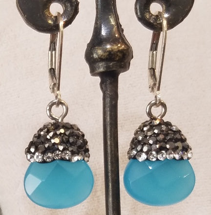 Blue sky and sparkle earrings