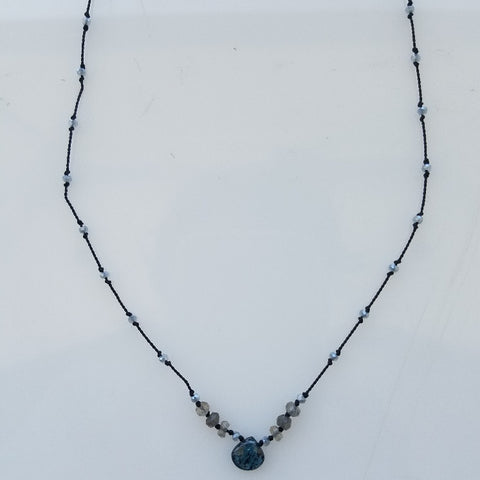 Kyanite silk necklace