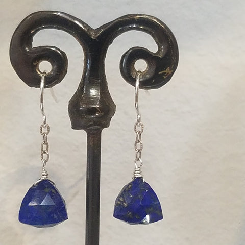 Triangular Lapis earrings