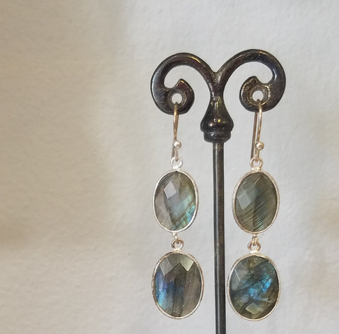 Labradorite dou earrings