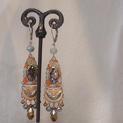 Ayala Bar two tone earrings