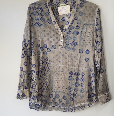Printed tunic 100% cotton