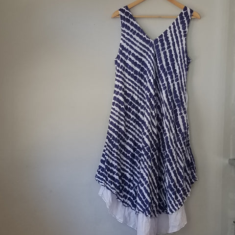 Blue and White two layers dress