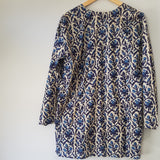 Botanical blue print tunic