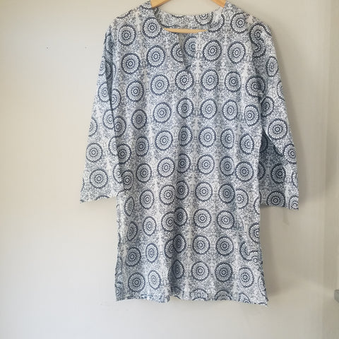 Blue Mandala tunic