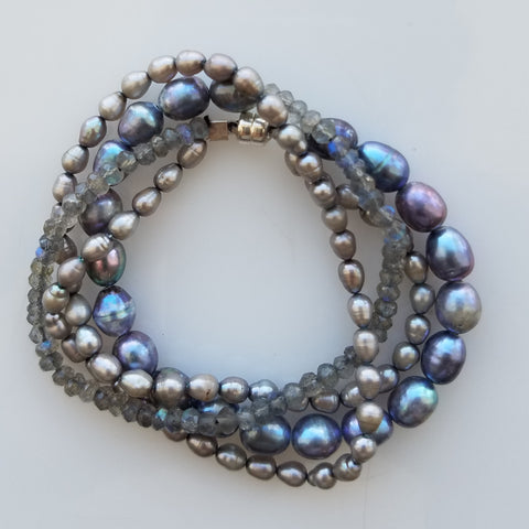 Pearls and Labradorite bracelet