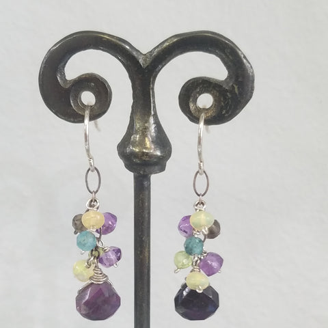 Purple Sugelite earrings