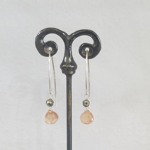 Peach Zircon earrings
