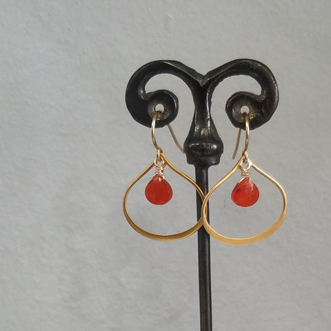 Firey earrings