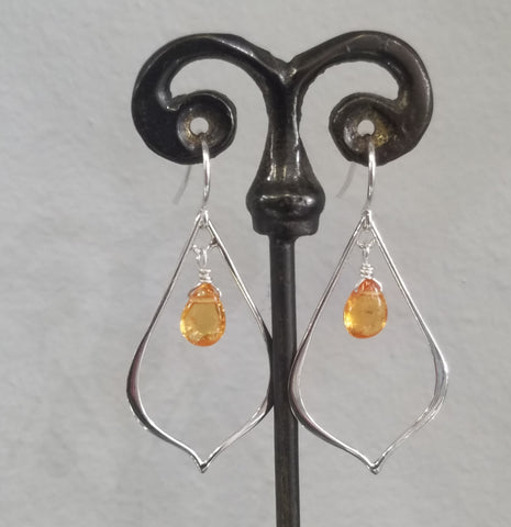 Mandarine Garnet earrings