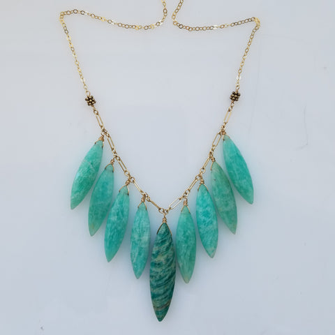 Marquise shape Amazonite necklace