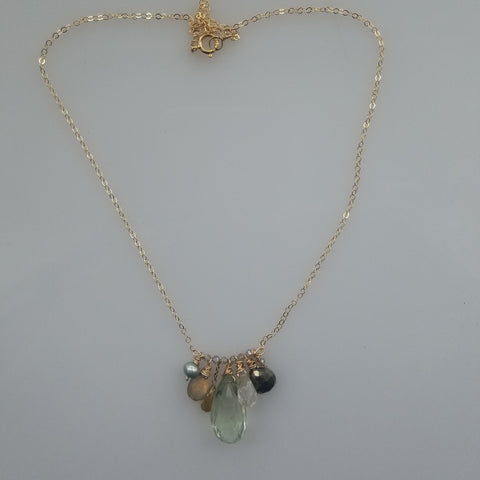 Majestic Green Amethyst necklace