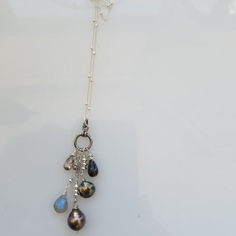 Tahitian pearl and friends necklace