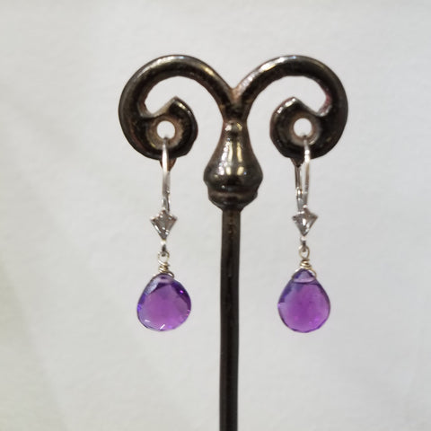 African Amethyst earrings